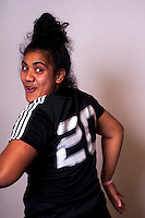 Victoria Nafatali. New Zealand Black Ferns headshot outtakes at The Rugby Institute, Palmerston North, New Zealand on Thursday, 28 May 2015. Photo: Dave Lintott / lintottphoto.co.nz