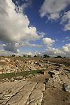 Israel, Sharon region. Remains of the Roman city Antipatris built by King Herod in Tel Afek