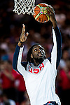 Kenneth Faried of United States of America  during FIBA Basketball World Cup 2014 group C between United States of America vs New Zeland  on September 02, 2014 at the Bilbao Arena stadium in Bilbao, Spain. Photo by Nacho Cubero / Power Sport Images