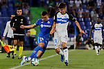 Mauro Arambarri of Getafe CF and Martin Aguirregabiria of Deportivo Alaves during La Liga match between Getafe CF and Deportivo Alaves at Colisseum Alfonso Perez in Getafe, Spain. August 31, 2019. (ALTERPHOTOS/A. Perez Meca)