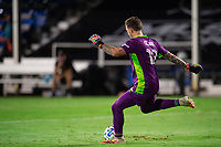 LAKE BUENA VISTA, FL - AUGUST 11: Steve Clark #12 of the Portland Timbers kicked the ball during a game between Orlando City SC and Portland Timbers at ESPN Wide World of Sports on August 11, 2020 in Lake Buena Vista, Florida.