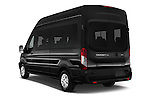 Car pictures of rear three quarter view of 2016 Ford Transit 350-XLT-Wagon-High-Roof-Pass-Slide-148WB 4 Door Passenger Van Angular Rear