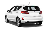Car pictures of rear three quarter view of a 2018 Ford Fiesta Vignale Base 5 Door Hatchback angular rear