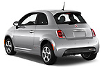 Car pictures of rear three quarter view of 2017 Fiat 500e Battery-Electric 5 Door Hatchback Angular Rear