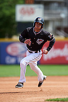 Erie Seawolves shortstop Curt Powell (33) running the bases during a game against the Richmond Flying Squirrels on May 20, 2015 at Jerry Uht Park in Erie, Pennsylvania.  Erie defeated Richmond 5-2.  (Mike Janes/Four Seam Images)