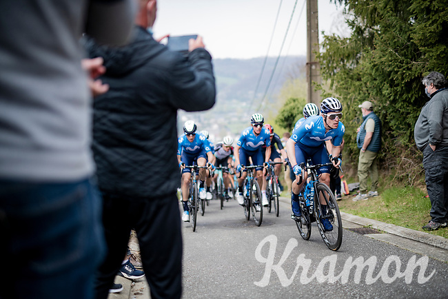 up the steep Côte de Gives<br /> <br /> 85th La Flèche Wallonne 2021 (1.UWT)<br /> 1 day race from Charleroi to the Mur de Huy (BEL): 194km<br /> <br /> ©kramon