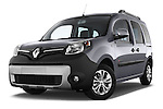 Low aggressive front three quarter view of a 2013 - 2014 Renault Kangoo eXtrem Mini MPV.