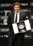 French film director Francois Ozon with the Golden Shell best film award and the the Jury Price for best screenplay during the Awards Gala in the 60th San Sebastian Donostia International Film Festival - Zinemaldia.September 29,2012.(ALTERPHOTOS/ALFAQUI/Acero)