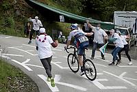 Alexis Renard (FRA/Israel Start-Up Nation) cheered up the Col du Pré (HC/1748m/12.6km@7.7%)<br /> <br /> 73rd Critérium du Dauphiné 2021 (2.UWT)<br /> Stage 7 from Saint-Martin-le-Vinoux to La Plagne (171km)<br /> <br /> ©kramon