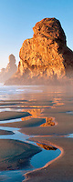 Sea stacks and low tide reflecting pools at Samuel H. Boardman State Scenic Corridor. Oregon