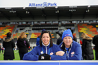 20130303 Copyright onEdition 2013©.Free for editorial use image, please credit: onEdition..Saracens Pioneers offer help to fans during the Premiership Rugby match between Saracens and London Welsh at Allianz Park on Sunday 3rd March 2013 (Photo by Rob Munro)..For press contacts contact: Sam Feasey at brandRapport on M: +44 (0)7717 757114 E: SFeasey@brand-rapport.com..If you require a higher resolution image or you have any other onEdition photographic enquiries, please contact onEdition on 0845 900 2 900 or email info@onEdition.com.This image is copyright onEdition 2013©..This image has been supplied by onEdition and must be credited onEdition. The author is asserting his full Moral rights in relation to the publication of this image. Rights for onward transmission of any image or file is not granted or implied. Changing or deleting Copyright information is illegal as specified in the Copyright, Design and Patents Act 1988. If you are in any way unsure of your right to publish this image please contact onEdition on 0845 900 2 900 or email info@onEdition.com