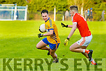 Brosna V St. Senan's : St. Senan's David Behan wins the ball ahead of Brosna's Gerard Nash in the  North Kerry  Bernard O'Callaghan Senior Championship Final held in O'Rahilly Park, Ballylongford on Sunday last.