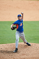 Pitcher Jackson Tavel (29) of Wallace-State Hanceville HIgh School in Dora, Alabama playing for the New York Mets scout team during the East Coast Pro Showcase on July 29, 2015 at George M. Steinbrenner Field in Tampa, Florida.  (Mike Janes/Four Seam Images)