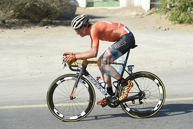 The breakaway group during Stage 4 The Municipality Stage of the Dubai Tour 2018 the Dubai Tour's 5th edition, running 172km from Skydive Dubai to Hatta Dam, Dubai, United Arab Emirates. 9th February 2018.<br /> Picture: LaPresse/Fabio Ferrari | Cyclefile<br /> <br /> <br /> All photos usage must carry mandatory copyright credit (© Cyclefile | LaPresse/Fabio Ferrari)