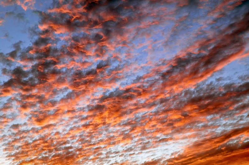 Sunrise clouds over Great Basin National Park, Nevada