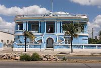 Cuba, Kolonialgebäude  am Malecon in Cienfuegos, Unesco-Weltkulturerbe