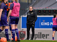 headcoach Patrick Wachel of Anderlechtpictured during a female soccer game between Oud Heverlee Leuven and RSC Anderlecht on the 2nd matchday of play off 1 in the 2020 - 2021 season of Belgian Womens Super League , saturday 17 th of April 2021  in Heverlee , Belgium . PHOTO SPORTPIX.BE | SPP | DAVID CATRY