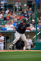 Scranton/Wilkes-Barre RailRiders Mike Ford (36) bats during an International League game against the Rochester Red Wings on June 24, 2019 at Frontier Field in Rochester, New York.  Rochester defeated Scranton 8-6.  (Mike Janes/Four Seam Images)