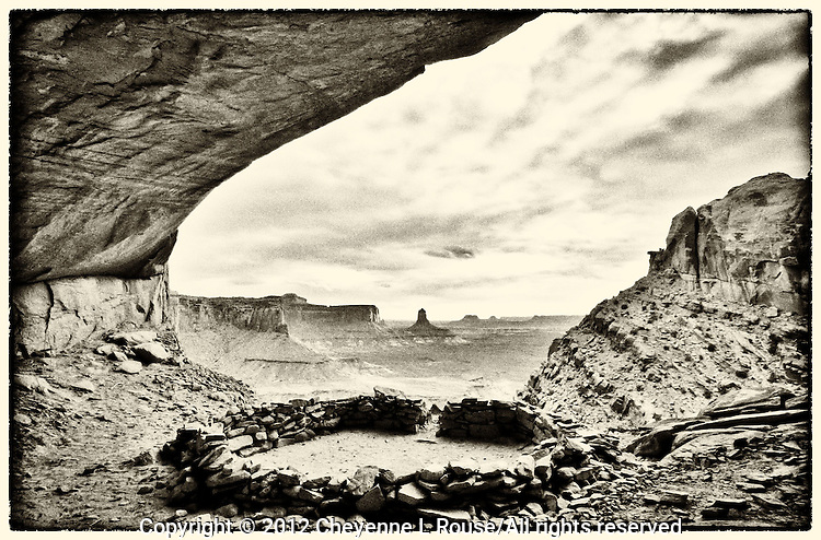 Hisatsinom Dreams - meaning Dreams of the Ancient Ones. This amazing archealogical site is situated in the Four Corners region of the American Southwest. Black & White (Film Noir)