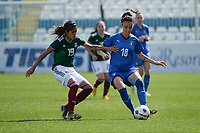 20190227 - LARNACA , CYPRUS : Italian midfielder Barbara Bonansea pictured with Mexican Daniela Espinosa (left) during a women's soccer game between Mexico and Italy , on Wednesday 27 February 2019 at the Antonis Papadopoulos Stadium in Larnaca , Cyprus . This is the first game in group B for both teams during the Cyprus Womens Cup 2019 , a prestigious women soccer tournament as a preparation on the FIFA Women's World Cup 2019 in France and the Uefa Women's Euro 2021 qualification duels. PHOTO SPORTPIX.BE | STIJN AUDOOREN