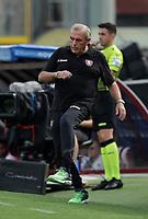 2nd October 2021; Arechi Stadium, Salerno, Italy; Serie A football, Salernitana versus Genoa : Fabrizio Castori coach of Salernitana gets into the game mood