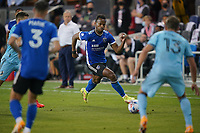 SAN JOSE, CA - AUGUST 17: Jeremy Ebobisse #11 of the San Jose Earthquakes during a game between Minnesota United FC and San Jose Earthquakes at PayPal Park on August 17, 2021 in San Jose, California.