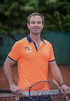 May18, 2017, Netherlands, Almere, Centerpoint Tennis Center, New Sjeng Schalken Tennis outfits for KNLTB staff, Fitnestrainer Miguel Janssen<br /> Photo: Tennisimages/Henk Koster