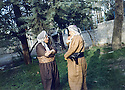 Iraq  1986 <br /> In Shaklawa, from left to right, Osman Beg and Anwar Beg Betwata  <br /> Irak 1986 A Shaklawa Anwar Beg Betwata et Osman Beg de Shaklawa