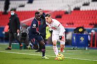 9th January 2021, Paris, France; French League 1 football, St. Germain versus Stade Brest;  ROMAIN FAIVRE BRE  IDRISSA GUEYE PSG