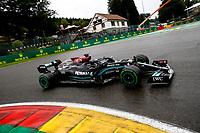 28th August 2021; Spa Francorchamps, Stavelot, Belgium: FIA F1 Grand Prix of Belgium, qualifying sessions;   44 Lewis Hamilton GBR, Mercedes-AMG Petronas F1 Team