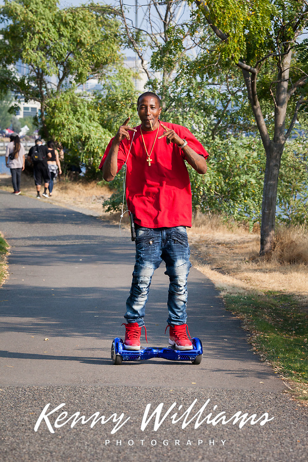 Stevie Jamming the Hoverboard, Hempfest Seattle, WA, USA.