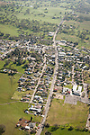 Amador County during spring from the air..Downtown and Main Street