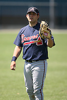 March 21st 2008:  Bubba Garcia of the Atlanta Braves minor league system during Spring Training at Tiger Town in Lakeland, FL.  Photo by:  Mike Janes/Four Seam Images