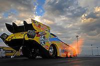 Jan. 18, 2012; Jupiter, FL, USA: NHRA funny car driver Jim Head during testing at the PRO Winter Warmup at Palm Beach International Raceway. Mandatory Credit: Mark J. Rebilas-