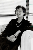 1985 FILE PHOTO - ARCHIVES -<br /> <br /> Ann Miller, Ontarion Premier Frank Miller's wife of 34 years, got her first job when she was 14 years old and has kept busy ever since. Those who know her say she's friendly, gregarious and accessible -- and a lot of fun. This slim and elegant grandmother is also an athlete and musician.<br /> <br /> 1985<br /> <br /> PHOTO :  Erin Comb - Toronto Star Archives - AQP