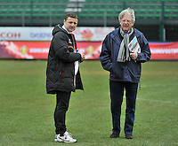 Russia U19 - Belgium U19 : Ives Serneels en Marc Lesenfants.foto DAVID CATRY / Nikonpro.be