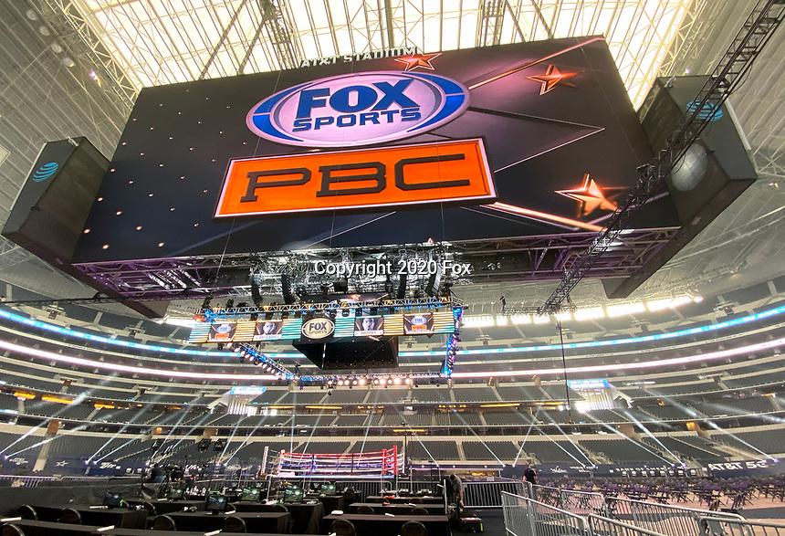 ARLINGTON, TX - DECEMBER 5: Fox Sports PBC Pay-Per-View fight night at AT&T Stadium in Arlington, Texas on December 5, 2020. (Photo by Frank Micelotta/Fox Sports)
