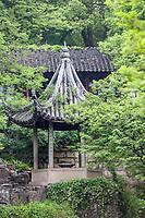 Suzhou, Jiangsu, China.  Gazebo Pavilion on Grounds of Tiger Hill.