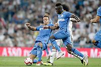 Getafe CF's Nemanja Maksimovic (l) and Amath Ndiaye during La Liga match. August 19,2018.  *** Local Caption *** © pixathlon<br /> Contact: +49-40-22 63 02 60 , info@pixathlon.de