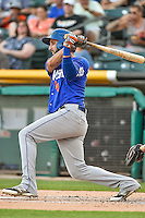 Alex Castellanos (4) of the Las Vegas 51s at bat against the Salt Lake Bees in Pacific Coast League action at Smith's Ballpark on June 25, 2015 in Salt Lake City, Utah.  Las Vegas defeated Salt Lake 20-8. (Stephen Smith/Four Seam Images)