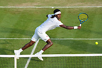 1st July 2021; Wimbledon, SW London. England; Wimbledon Tennis Championships, day 4;  Mikael Ymer , Sweden