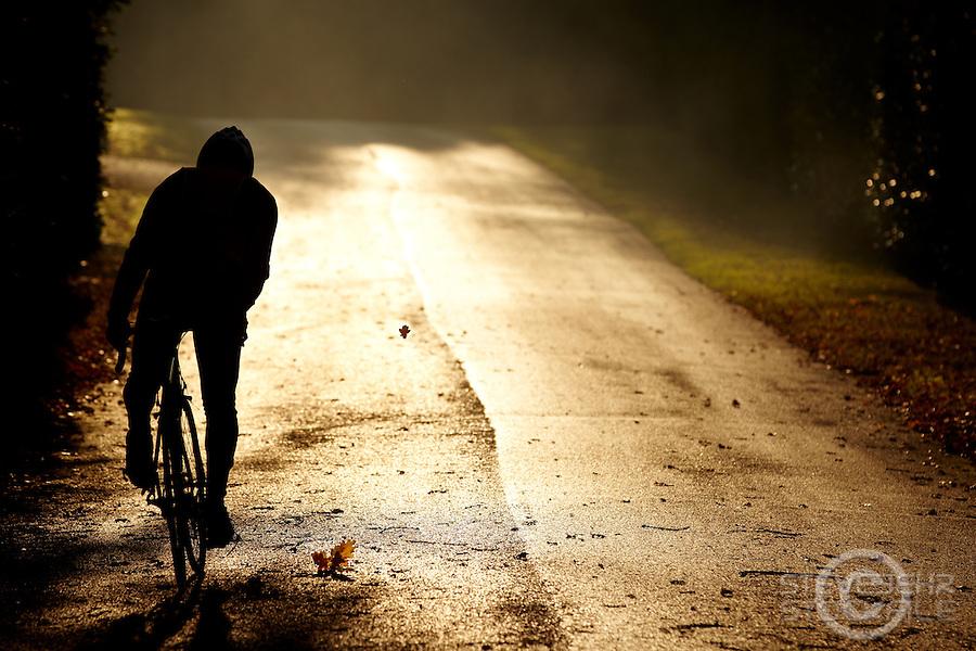 Sam Behr  riding Carrera road bike ,, Surrey  , November 2011 pic copyright Steve Behr / Stockfile