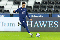 SWANSEA, WALES - NOVEMBER 12: Antonee Robinson of the United States warms up during a game between Wales and USMNT at Liberty Stadium on November 12, 2020 in Swansea, Wales.