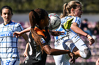 Allyson Swaby of AS Roma and Caroline Moller of FC Internazionale compete for the ball during the Women Serie A football match between AS Roma and FC Internazionale at stadio Agostino Di Bartolomei, Roma, March 20th, 2021. AS Roma won 4-3 over FC Internazionale. Photo Andrea Staccioli / Insidefoto