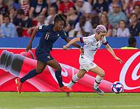 PARIS,  - JUNE 28: Kadidiatou Diani #11, Megan Rapinoe #15 during a game between France and USWNT at Parc des Princes on June 28, 2019 in Paris, France.