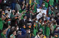 LA PAZ – BOLIVIA, 02-09-2021: Hinchas de Bolivia protestan durante partido de la fecha 17 para la clasificación sudamericana a la Copa Mundial de la FIFA Rusia 2018 jugado en el estadio Hernando Siles en La Paz. /  Fans of Bolivia protest during match for the Qualifiers for the FIFA World Cup Qatar 2022 played at Hernando Siles stadium in La Paz. Photo: VizzorImage / APG / Daniel Miranda / Cont
