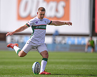 5th September 2020; Kingsholm Stadium, Gloucester, Gloucestershire, England; English Premiership Rugby, Gloucester versus London Irish; Paddy Jackson of London Irish kicks a penalty to put his team in the lead 0-3