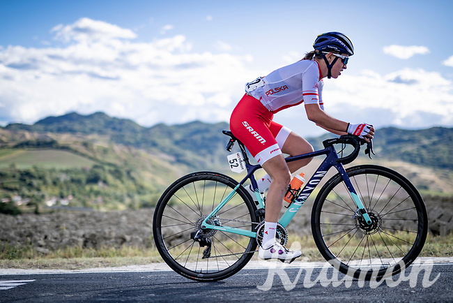 Katarzyna Niewiadoma (POL/Canyon-SRAM) up the Cima Gallisterna Climb (2.3km @ 7%) <br /> <br /> Women's Elite Road Race from Imola to Imola (143km)<br /> <br /> 87th UCI Road World Championships 2020 - ITT (WC)<br /> <br /> ©kramon