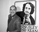 """Ben Kingsley as """"Edmund Kean""""  at the Brooks Atkinson Theatre on September 27, 1983 in New York City."""