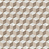 Euclid, a hand-cut stone mosaic, shown in polished Shell, Whitewood and Driftwood, is part of the Illusions™ Collection by New Ravenna.